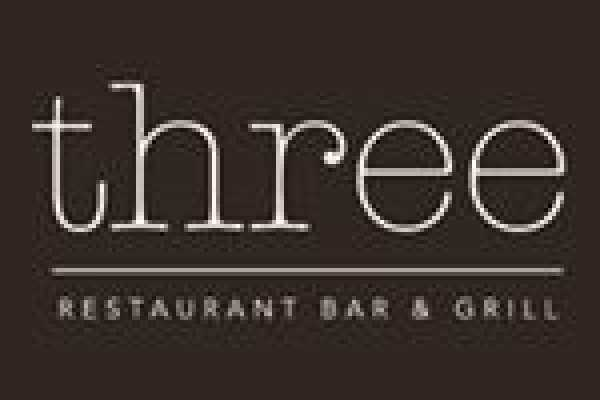 Three Restaurant Bar and Grill Logo