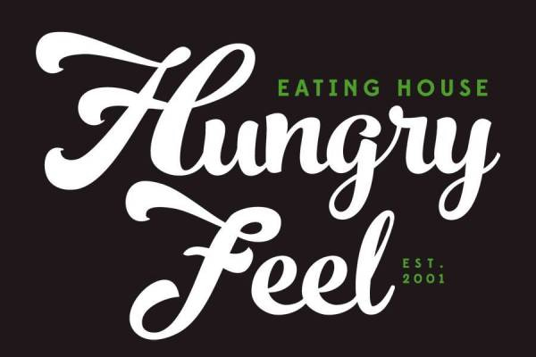 Hungry Feel Eating House Logo