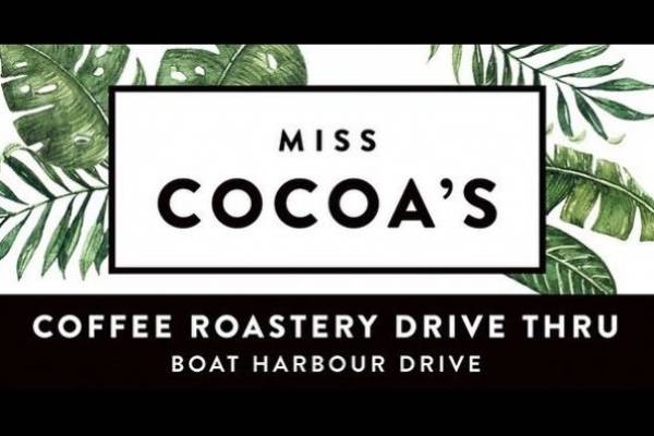 Miss Cocoa's Coffee Roastery Drive Thru Logo