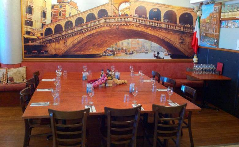 The beautiful interior at Domenico's on Kings takes you to Venice!
