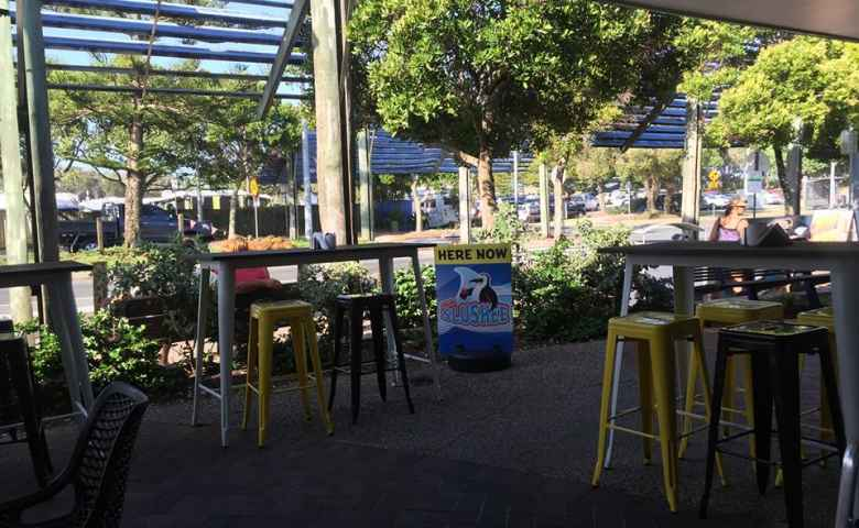 Reelax Cafe offers views across to Dicky Beach