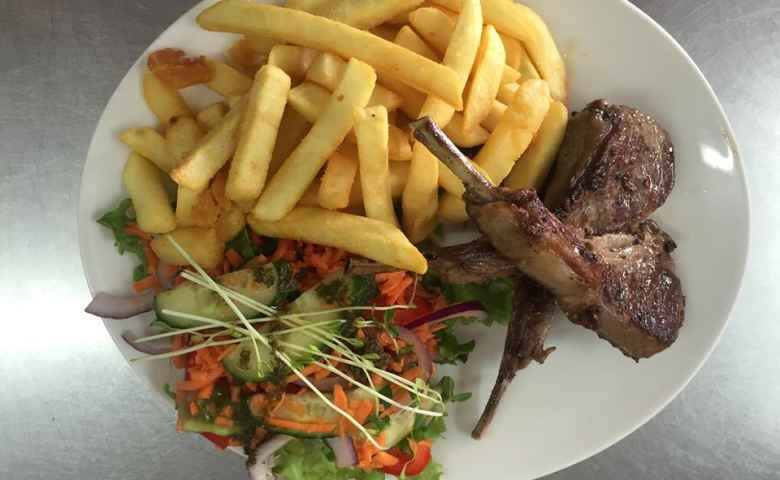 Chops and Chips from Reelax Cafe