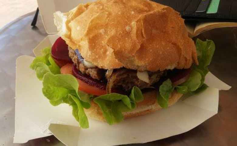 Burgers are a specialty of Foodstore