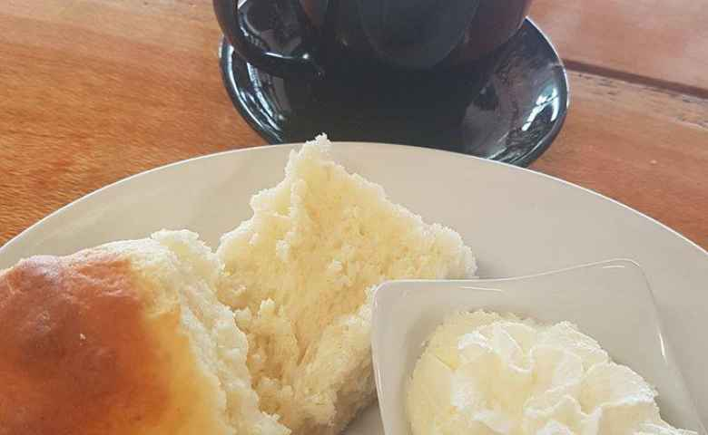 Coffee plus Scones with Jam & Cream