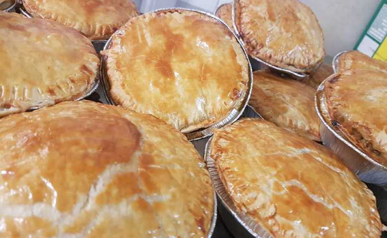 Hot Fresh Baked BunyaNut Beef Pies