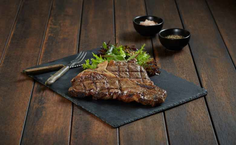 Steak is a specialty of course at Ribs and Rumps Fortitude Valley