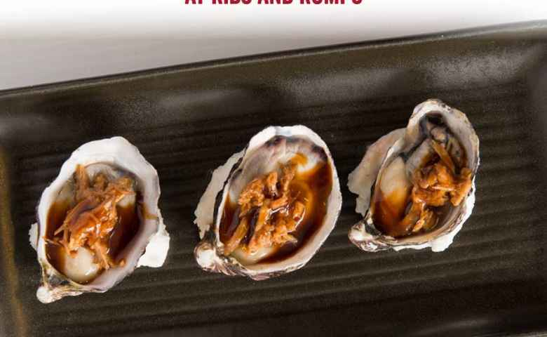 Oysters at Ribs and Rumps Fortitude Valley