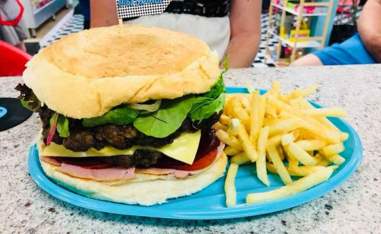 Burgers and Fries at Mel's Diner in Kingaroy