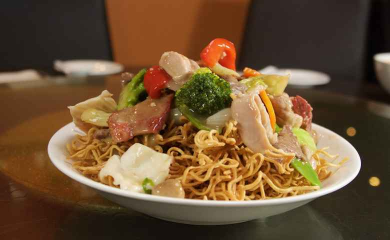 Combination Fried Noodles at Noodle House Mitchell