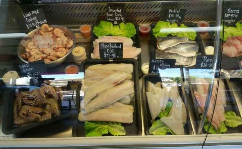 A range of fresh fish and seafood at Ocean Fresh Currimundi